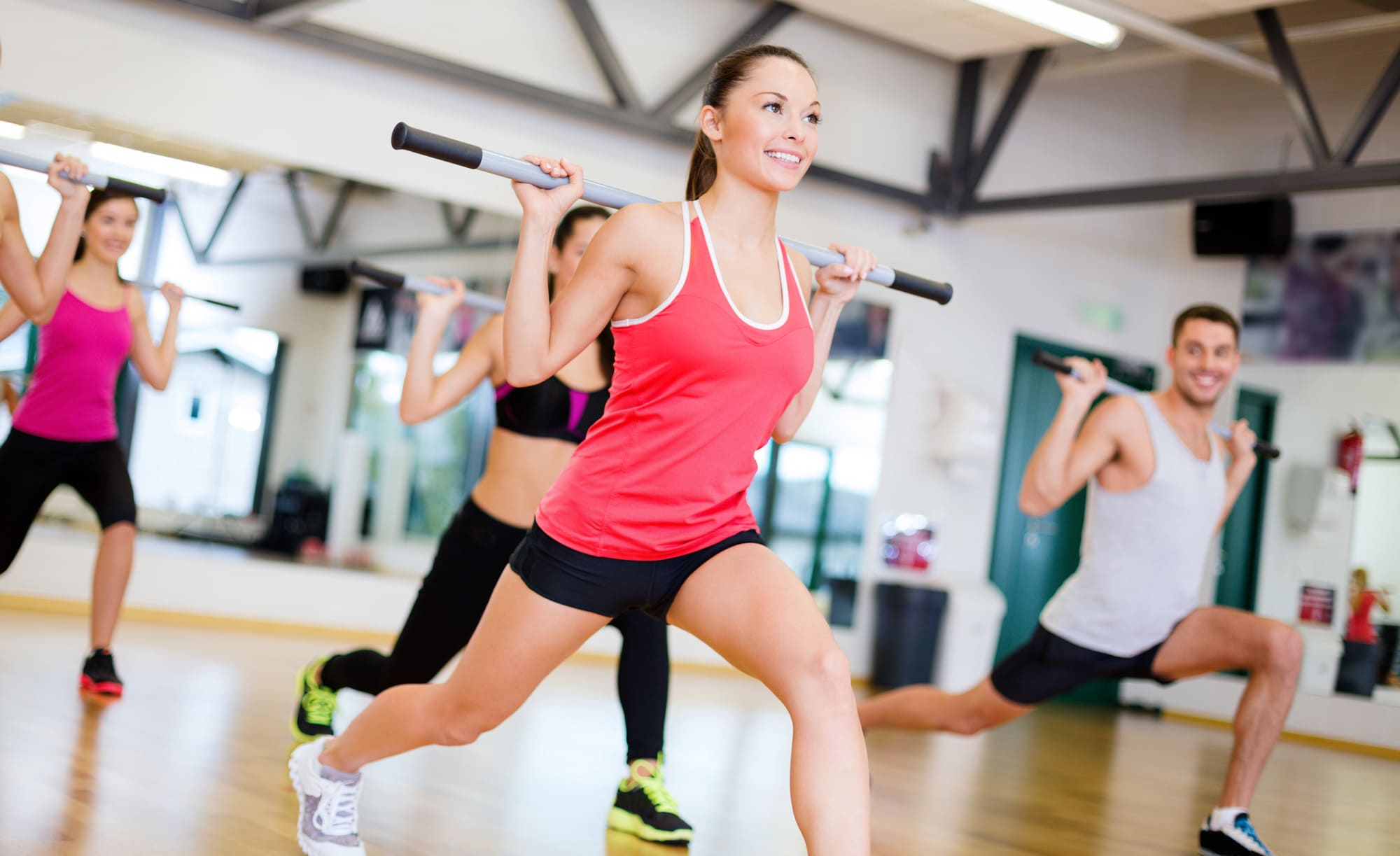 Gruppe im body muscleworkout Kurs